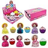 Sliveal Überraschungspuppe Prinzessin Puppen Transform Cupcake Puppe mit überraschung duftenden...