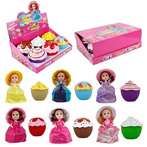 Sliveal Überraschungspuppe Prinzessin Puppen Transform Cupcake Puppe mit überraschung duftenden großen Prinzessin Puppen feine Geschenk Spielzeug für Kinder Cupcake überraschungspuppe