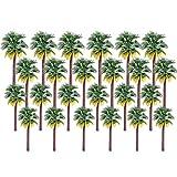 YOU339 24 Stück Modell Bäume Coconut Palmen (7-15cm), DIY Kommerziellen Sand Modellbahn Landschaft Tabelle Outdoor Gebäude Modell Gebäudemodell Baum Kuchen Deckel -