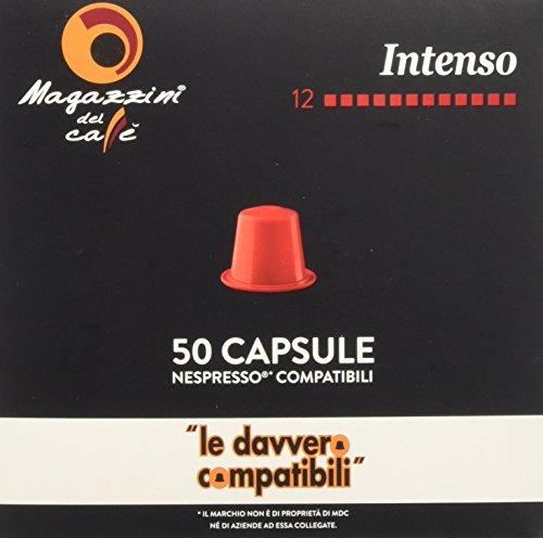 Magazzini del Caffè, 50 Capsule Compatibili Nespresso - Miscela Intenso - Intensità 12 con...