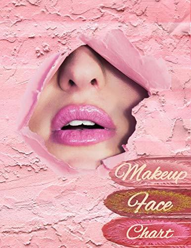 Makeup Face Chart: Make-up Vorlagen auf Papier Gesicht zum Ausmalen Gesichtsdiagramme für Visagisten