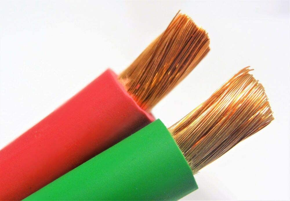 WELDING cheap Popular standard BATTERY CAR CABLE 12' RED USA 24' F GREEN NEW GROUND