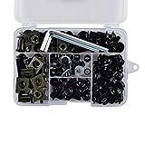 CHENWEI- CNC Completo Bulloni di Calibro Kit Bodywork Viti Dado per Yamaha FJ600 FJ1100 FJ1200 TZ250 TZ350 TZ750 RZ350 YSR50 (Color : Black)