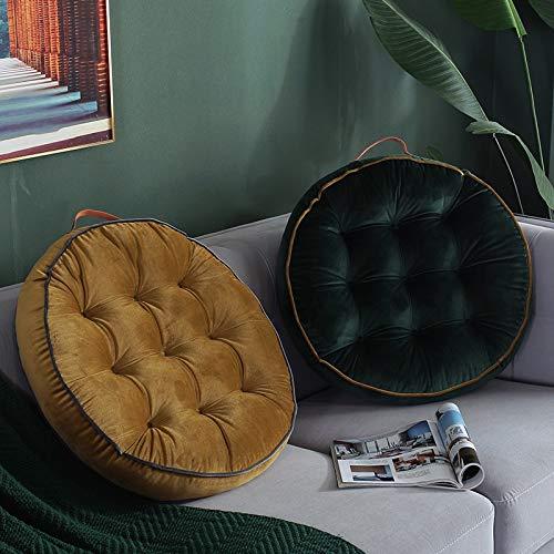 N / A Cojín de Terciopelo Moderno cojín de Asiento Redondo cojín de sofá cojín de Almohada Sala de Estar Dormitorio Alfombra de Piso decoración para el hogar 58x58 cm