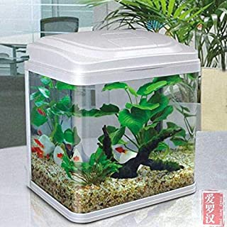 Aquarium small fish tank glass white color JEBO QR-223 23.5 * 16.5*H27.5 cm for home and office