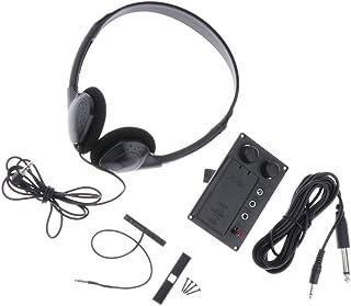KESOTO Violin EQ Piezo Pickup Preamp w/Earphone + 10'' Plug Hole cable for Electric Violin Parts