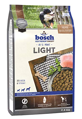 bosch HPC Light | Comida seca para perros sobrepesados de todas las razas | 2,5 kg