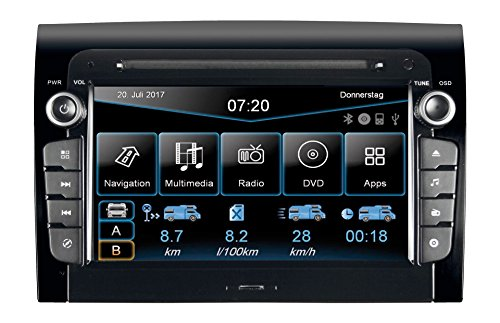 ESX VNC720-FI-DUCATO Navigationsgerät, Festeinbau Bluetooth®-Freisprecheinrichtung, Camper/LKW-Sof