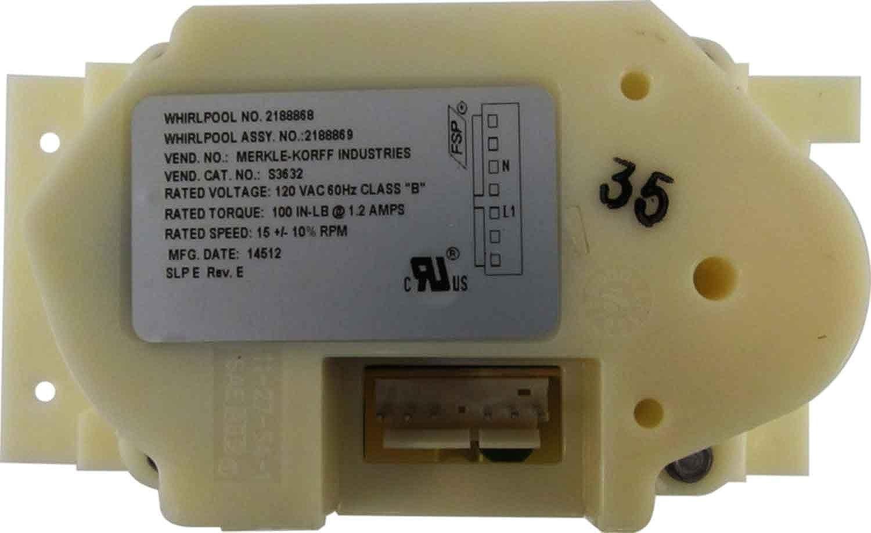 2188869 Whirlpool Refrigerator Motor Genuine OEM