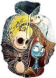 Chaos World Hombres Sudaderas con Capucha cordn Bolsillos 3D Impreso Pullover Hoodies (024 Zombie,M)