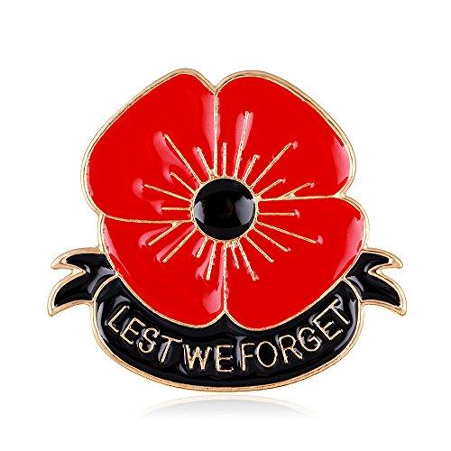 yavona rot Emaille Lest We Forget Poppy Broschen für Frauen Hero 's Brosche Pins Remembrance Geschenke