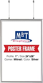 M&T Displays Double Sided Snap Frame, 24X36, 1