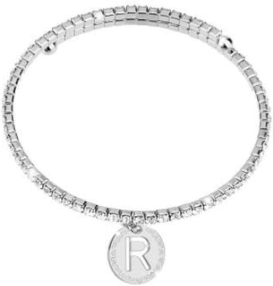 Rebecca bracciale per donna in bronzo silver e swarovski di colore bianco BWYBBR18