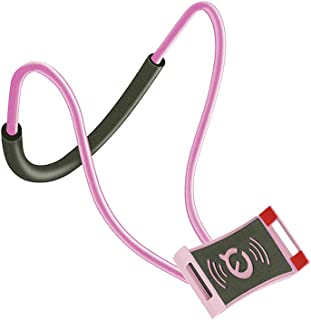Neck Hanging Phone Holder Bendable Free Hand Smartphone Stand Cellphone Mount Accessories, Pink