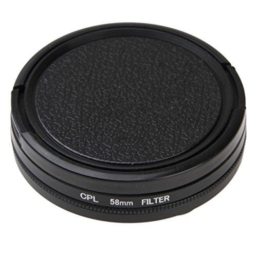 MASUNN 58mm Circulaire Polariserende CPL Filter Cap Lens voor Canon Nikon Sony Olympus Gopro Hero 3 Action Camera