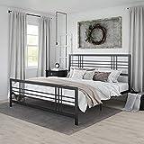 DHP Arcadia Metal, King Size Frame, Adjustable Storage, Black Bed