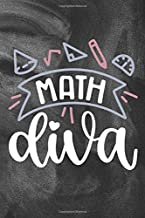 Math Diva: Funny Math Teachers Math Professors Math Lovers Lined Journal Notebook Weekly Lesson Planner Black Chalkboard Design Back To School Teacher Appreciation Thank You Gift
