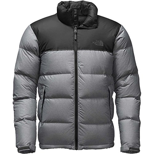 The North Face Nuptse Veste pour homme, Homme, TNF Medium Grey Heather/TNF Black, Large