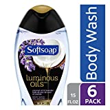 Softsoap Luminous Oils Body Wash, Coconut and Lavender - 15 fluid ounce (6 Pack)