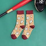 NANAYOUPIN Calcetines nuevos de otoño e Invierno, Calcetines Coloridos de Frutas de sandía, Calcetines Casuales de algodón para Parejas, Pollitos