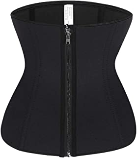 innerShapes Waist Trainer Corset for Women | Double Layer Waist Cincher with 3 Hooks & Zipper Closure for Extra Back Support | Neoprene Corset for Weight Loss, Workout, Hourglass Shaping