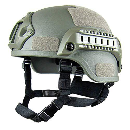 Taktischer Helm Militär-Stil Schutzhelm für Airsoft Paintball Outdoor-Sportarten Mountainbike Radfahren CQB Shooting - Armeegrün
