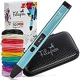 Premium 3D Stift mit 10 Filamenten und Etui | 3D stifte für Kinder und Erwachsene inkl. Ebook | 3D Pen set für Anfänger und Profis | DIY-Bastelset | 3 D Druckstift mit Schablonen | Bastelset Kinder