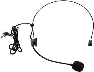 Andoer® Unidireccional Micrófono Montado en la Cabeza Auricular Diadema Mic Boom Wired Flexible para la Voz Amplificador Amplificador Altavoz