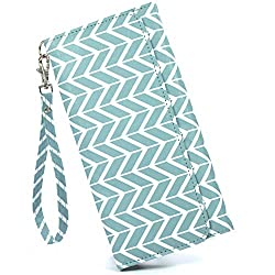 blue chevron cash system wallet