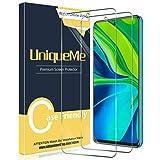 UniqueMe [2 Pack] Protector de Pantalla Compatible con Xiaomi Redmi Note 9S / Note 9 Pro/Note 9 Pro MAX, Vidrio Templado [9H Dureza] HD Film Cristal Templado