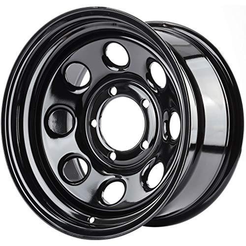 "JEGS Baja-8 Steel Wheel 16"" x 8"" | 5 x 5.5"" Wheel Bolt Pattern Spacing | -12 mm Offset | 4"" Backspacing | Black Powder Coat | Optional Center Cap Available Separately"