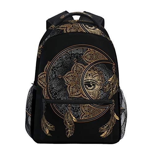 ALAZA Unicorn Magic Polka Dot Rose Backpack Daypack College School Travel Shoulder Bag