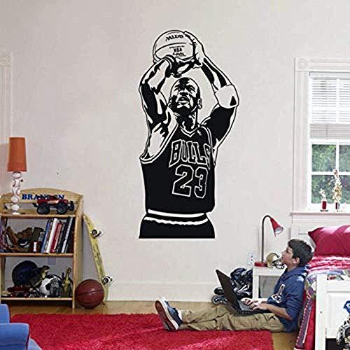 Adesivo murale Famoso sport Vinile Camera dei bambini Giocatore di basket Rimuovi camera da letto Decorazioni per la casa Decalcomania Art Poster 57X114Cm