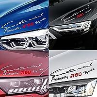 車のスタイリングデカール車反射ランプ眉毛のステッカーR50 R52 R53 R55 R56 R57 R58 R59 R60 R61 f54 F55 F56 F57 F60-Black, R60