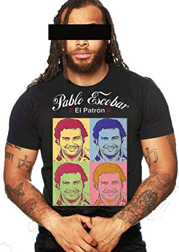 "O2B Pablo Escobar T-Shirt Herren EL Patron Shirt Drogenbaron | Drogen | Dealer | Pablo | Gangster | Escobar | Mafia | EL Doctor"", ""EL Patrón"" ""Don Pablo (3XL, Schwarz)"