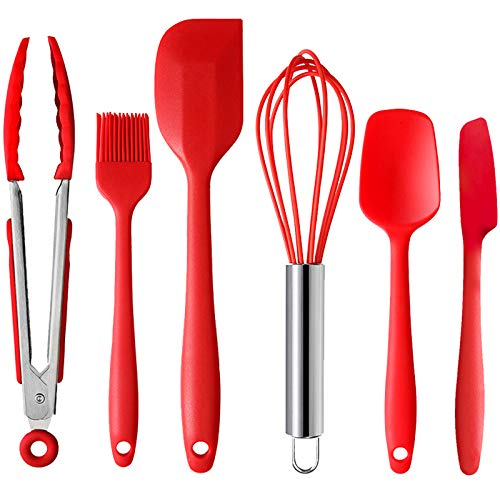 SELCOUTH 6 Piece Silicone Spatula Scraper Set w/Kitchen Tongs Only $7.81 (Retail $17.35)