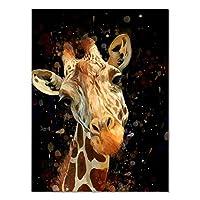 """壁の写真現代水彩キリン壁アート抽象的な動物のキャンバスプリント絵画家の装飾壁の装飾写真70x100cm / 27.6 """"x39.4""""フレームレス"""