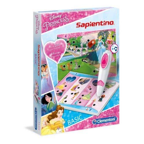 Clementoni - 11972 - Sapientino Penna Basic - Disney Princess - gioco quiz con penna interattiva, gioco educativo 3 anni, elettronico parlante - Made in Italy, batterie incluse