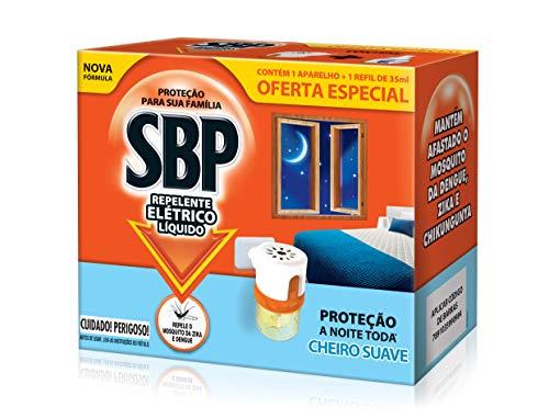 Repelente Elétrico Líquido 45 Noites Cheiro Suave com Aparelho + Refil 35 Ml, Sbp