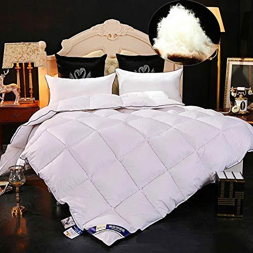 Hahaemall Duvets King size Quilt 100% Cotton Anti Dust Mite Duvet - Comforter Warm - Anti Allergy - Cooling - Duvet Quilt-white_150x200cm-2000g