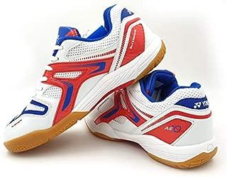 Yonex AllEngland X Non-Marking Professional Badminton Shoes, White/R Blue/Orange - 7.5 UK