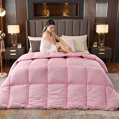 Winter Dicke Einfarbige Bettdecke Einzel- Und Doppelschlafsofa Bettwäsche Für Studenten, 95 Weiße Gänsedaunen Quilt Kern, 220X240cm,1