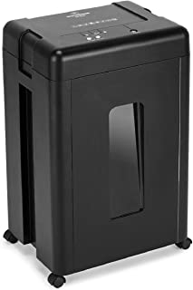 Wolverine 15-Sheet Super Micro Cut High Security Level P-5 Heavy Duty Paper/CD/Credit Card Shredders for Office, Ultra Quiet with Manganese Cutter and 8 Gallons Pullout Waste Bin SD9520 (Black)
