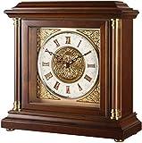 DYR Reloj de Mesa Decoración para Sala de Estar Relojes despertadores sin tictac Funciona con Pilas Retro Número Romano Madera