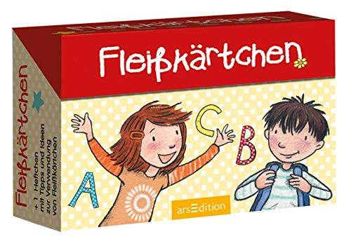 Fleißkärtchen: 80 lustige Karten mit Bildern und Witzen in einer Kartenbox für Kinder ab 5 Jahren