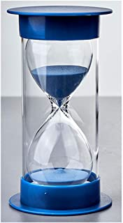 Sand Clock Timer Hourglass Double Protection for Kitchen Timer and Time Study 5 Minute 15 min 30min 45min 60min-1 Hour in Blue