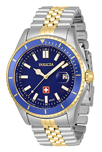 Invicta Reloj de cuarzo Pro Diver para hombre con correa de acero inoxidable, dos tonos, 22 (Modelo: 33434)