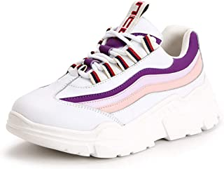 Women's Sports Shoes 2019 New Leather Low-Top Sneakers Fashion Casual Shoes Running Shoes Athletic Shoes Training Shoes,A,39