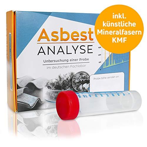 Asbesttest + KMF Test – Analyse einer Staubprobe oder Materialprobe im Labor auf Asbest und Künstliche Mineralfasern (KMF)