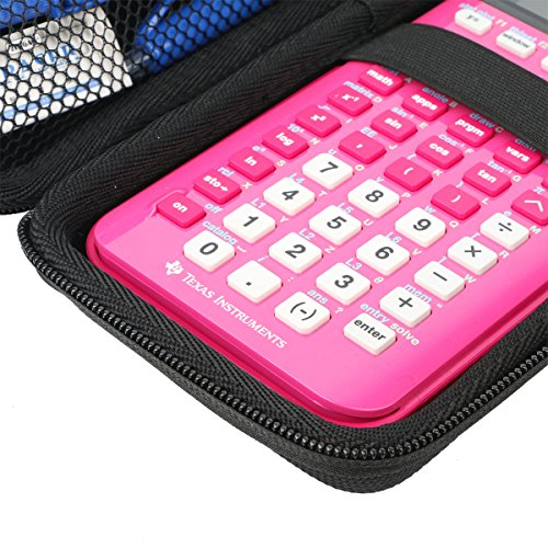 Khanka Hard Travel Case Replacement for Texas Instruments TI-84 Plus CE Graphing Calculator Mesh Pocket for Other Accessories Photo #4